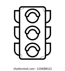 The traffic light icon. Stoplight and semaphore, crossroads symbol. Flat Vector illustration