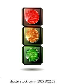 Traffic light isolated. Vector.
