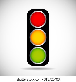 Traffic light isolated. Vector.