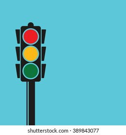 Traffic light pole, vector