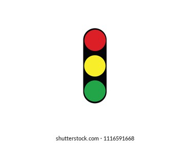 Traffic light sign semaphore - lamp - stop