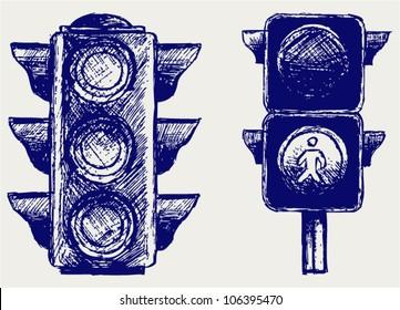 Traffic light. Sketch