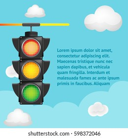 Traffic Light Sky Background Template