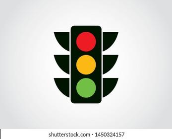 Traffic Light Street Crosswalk Vehicle Regulation Transportation Icon Symbol Color