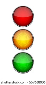 Traffic Light symbol on light background. Vector illustration. Simple road sign isolated