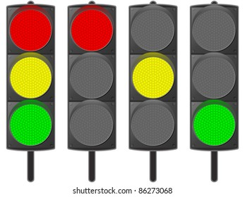 Traffic light - vector