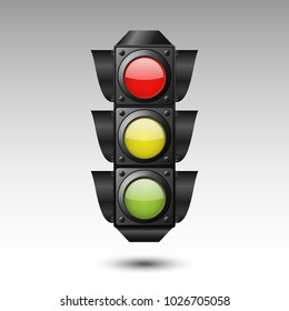 Traffic light. Vector illustration