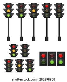 Traffic Light Vector Illustration EPS10
