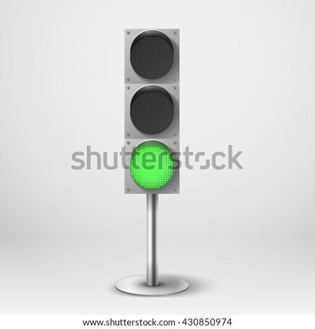 traffic light vector illustration green diod のベクター画像素材
