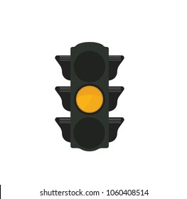 Traffic light with yellow light
