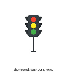 traffic lights flat vector icon. Modern simple isolated sign. Pixel perfect vector  illustration for logo, website, mobile app and other designs