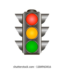 Traffic lights red, yellow, green Vector