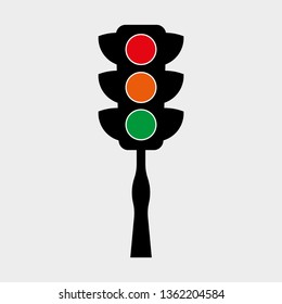 traffic lights vector icons