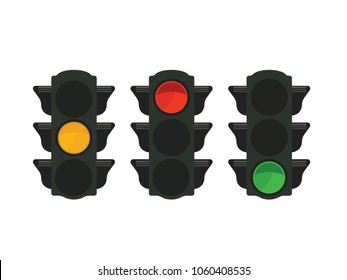 Traffic lights with Yellow,Red,Green light