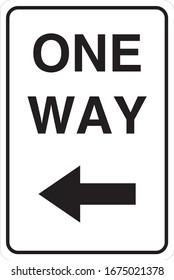 Traffic One Way Sign Board
