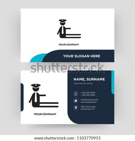Traffic Police Business Card Design Template Stock Vector Royalty