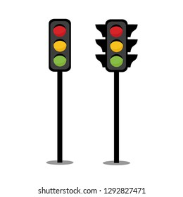 Traffic red light, yellow light, green light, Status indicator for driving. Design by Inkscape.