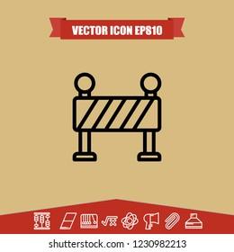 traffic roadblock icon vector