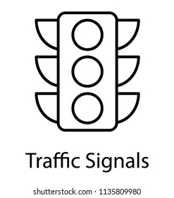 Traffic semaphore is used to symbolize traffic signals icon