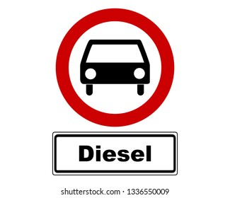 Traffic sign with car