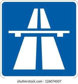 traffic sign freeway