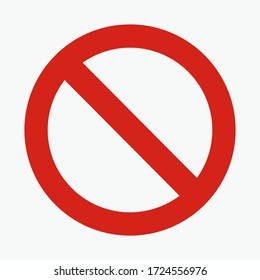traffic sign. illustration of traffic signs in flat style. Warning is prohibited from entering.vector illustration. vector icon.