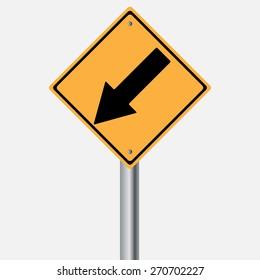 Traffic sign . keep left