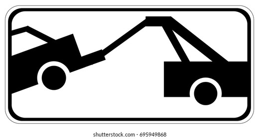 Traffic sign - no parking, tow away zone sign