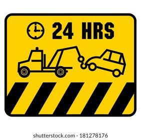 Traffic sign - no parking, vector illustration