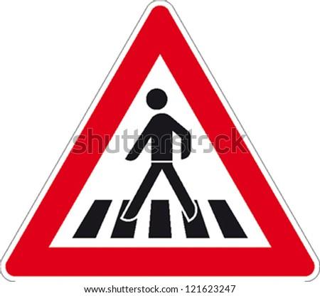 traffic sign pedestrian crossing のベクター画像素材 ロイヤリティ