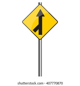 Traffic sign road, Vector image.