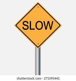 Traffic sign . slow