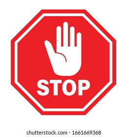 Traffic sign stop. Prohibition sign. Vector illustration. on white background
