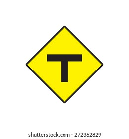 Traffic sign , yellow road sign