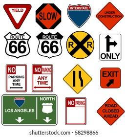 Traffic Signage Set