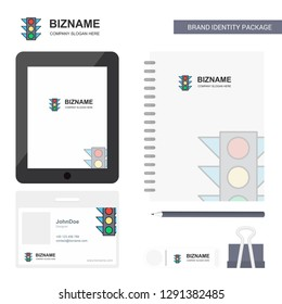 Traffic signal Business Logo, Tab App, Diary PVC Employee Card and USB Brand Stationary Package Design Vector Template