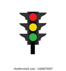 Traffic Signal light vector icon.