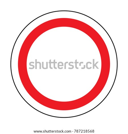Traffic Signal Symbol Sign Stop Ahead Stock Vector Royalty Free