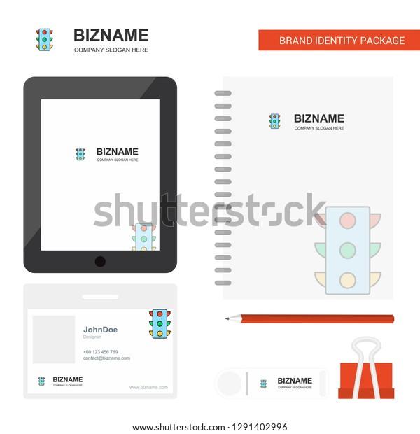 Traffic Signals Business Logo Tab App Stock Vector (Royalty