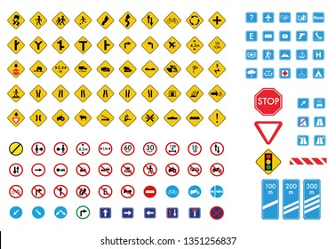 traffic signs collection vector.