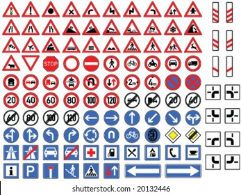 traffic signs collection vector