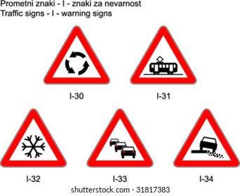 Traffic signs on slovene roads - Prometni znaki na slovenskih cestah