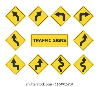 Traffic signs set - Vector