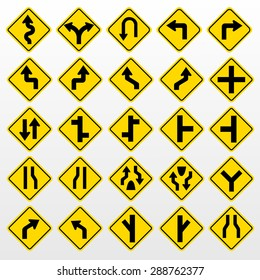 Traffic Signs Vector Set