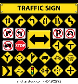 Traffic sign.Vector illustration