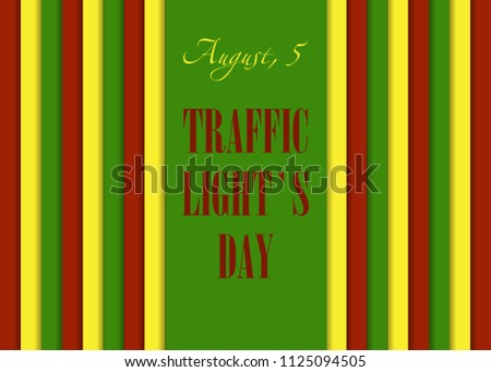 Traffis Lights Day August 5 Calendar Stock Vector Royalty Free