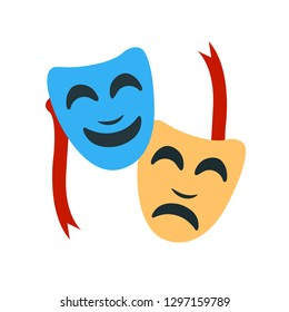 Tragedy and Comedy Masks emoji vector