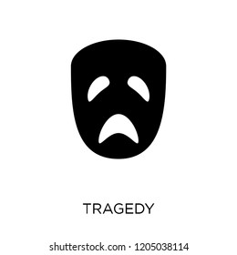 tragedy icon. tragedy symbol design from Cinema collection. Simple element vector illustration on white background.