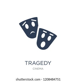 tragedy icon. Trendy flat vector tragedy icon on white background from Cinema collection, vector illustration can be use for web and mobile, eps10