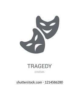tragedy icon. Trendy tragedy logo concept on white background from Cinema collection. Suitable for use on web apps, mobile apps and print media.